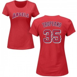 Women's Nick Tropeano Los Angeles Angels Roster Name & Number T-Shirt - Red