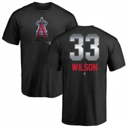 Youth C.J. Wilson Los Angeles Angels Midnight Mascot T-Shirt - Black