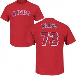 Youth Luis Madero Los Angeles Angels Roster Name & Number T-Shirt - Red